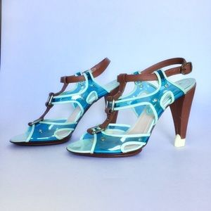 Celine Transparent Heels 37/7 US